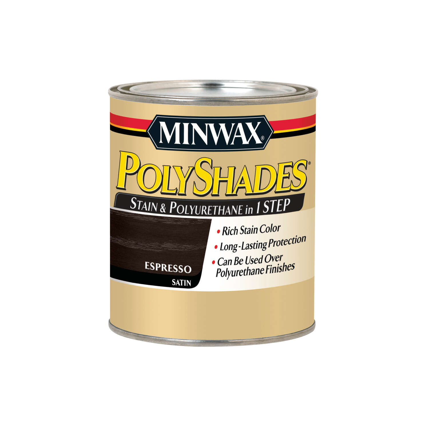 Minwax PolyShades Semi-Transparent Satin Espresso Oil-Based Stain 1 qt.
