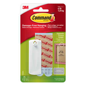 3M  Command  White  Picture Hanging Set  1 pk 4 lb.