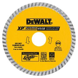DeWalt  7 in. Dia. x 5/8 in.  XP Extended Performance  Diamond  Masonry Blade  1 pk
