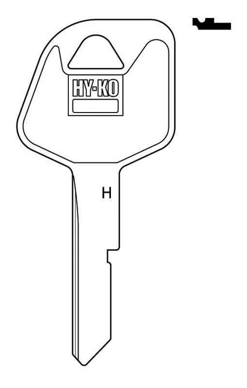 Hy-Ko  Automotive  Key Blank  EZ# B79  Single sided