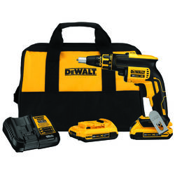 DeWalt  XR  1/4  Cordless  Keyless  Drywall Screw Gun  Kit  20 volt 4400 rpm