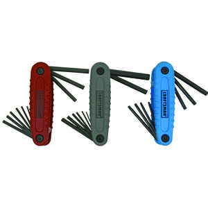 Craftsman  1/4  Metric and SAE  Fold-Up  Hex Key Set  24  6 in.