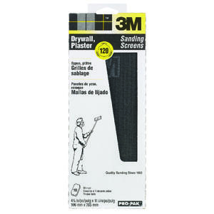 3M  Pro-Pak  11-1/4 in. L x 4-3/16 in. W 120 Grit Fine  Silicon Carbide  Drywall Sanding Screen  10