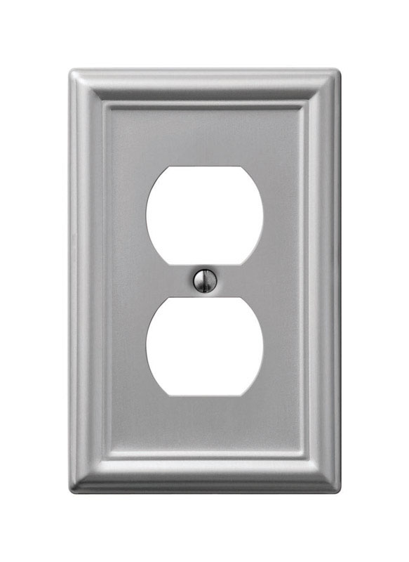 Amerelle  Chelsea  1 gang Stamped Steel  Duplex Outlet  1 pk Wall Plate