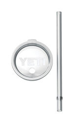 YETI Rambler Clear BPA Free Tumbler Lid and Straw