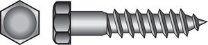 Hillman  1/2 in.  x 3 in. L Hex  Zinc-Plated  Steel  Lag Screw  50 pk