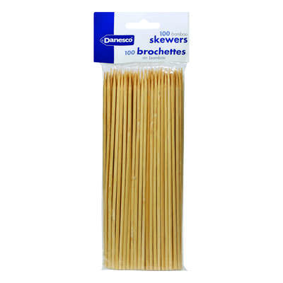 BIA Cordon Bleu  Danesco  8 in. L Brown  Bamboo  Bamboo Skewer