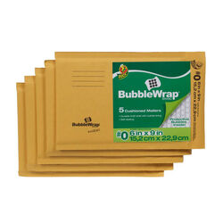 Duck  6 in. W x 9 in. L Yellow  Padded Envelope  5 pk
