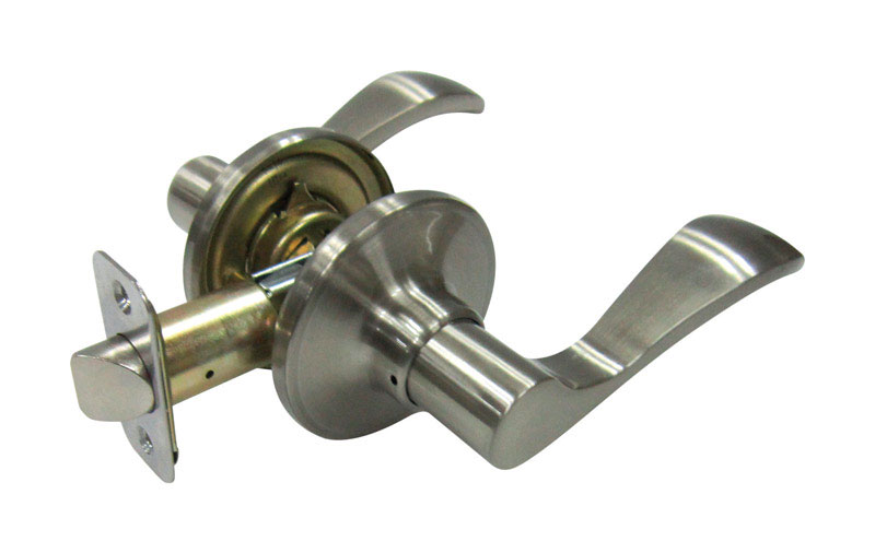 Faultless  Fu-Hsing  Naples Lever  Satin Nickel  Metal  Passage Lever  3 Grade Right Handed