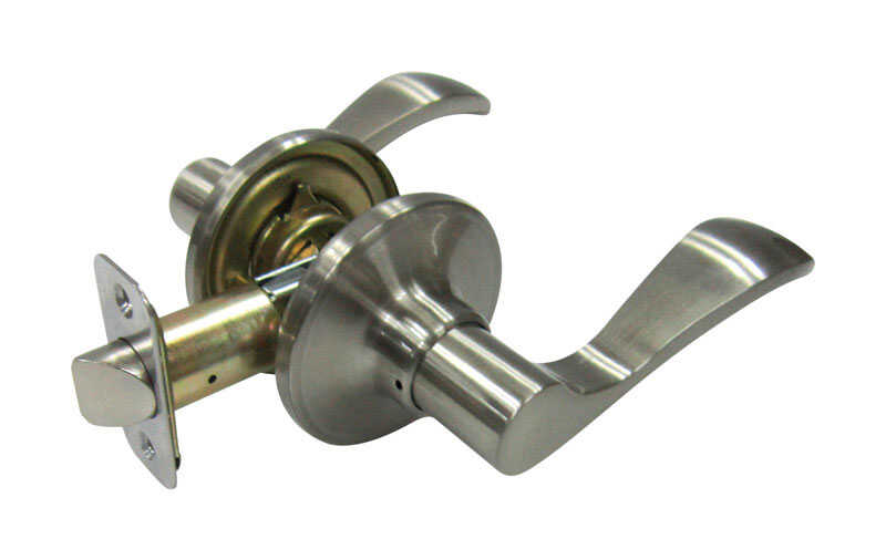 Faultless  Naples Lever  Satin Nickel  Metal  Passage Lever  3 Grade Right Handed