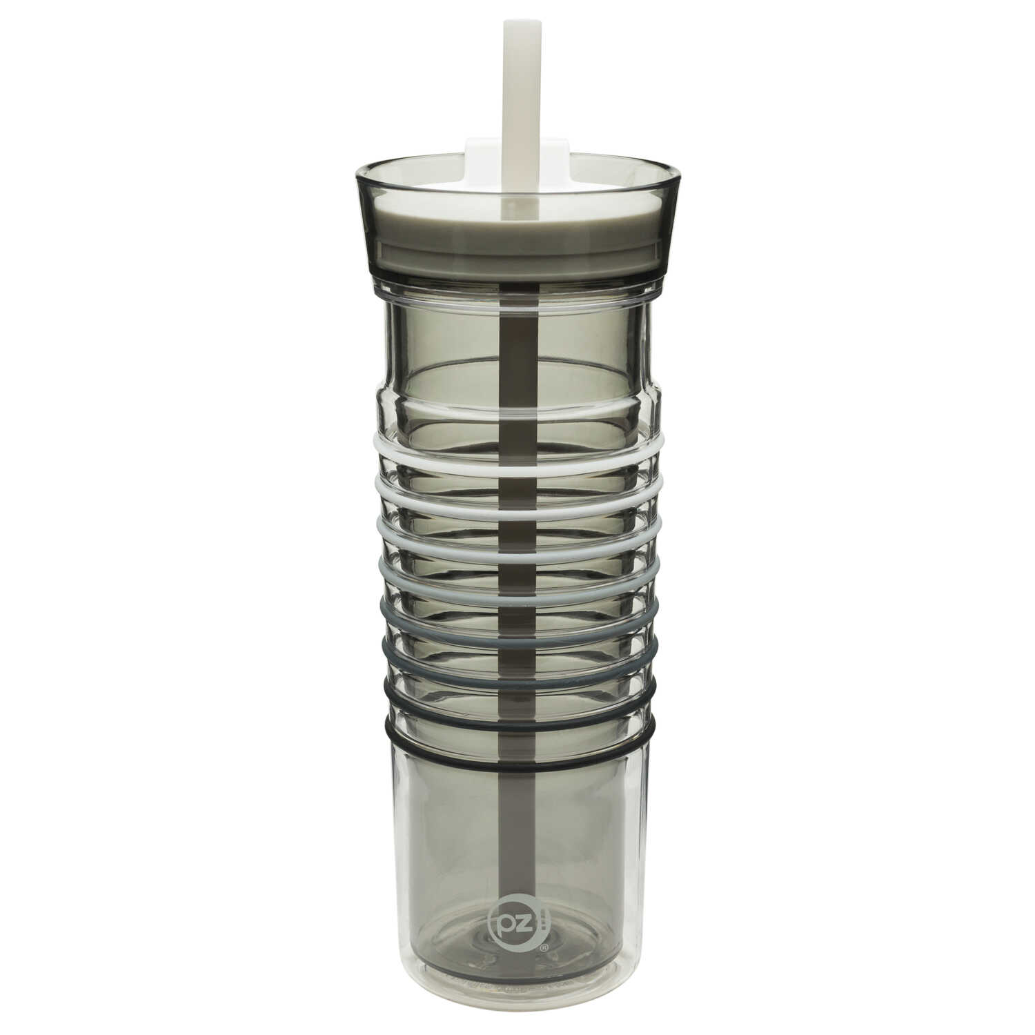 Zak Design HydraTrak  Ghost  Tritan  Water Intake Calculator  Double Wall Tumbler  BPA Free 20 oz.