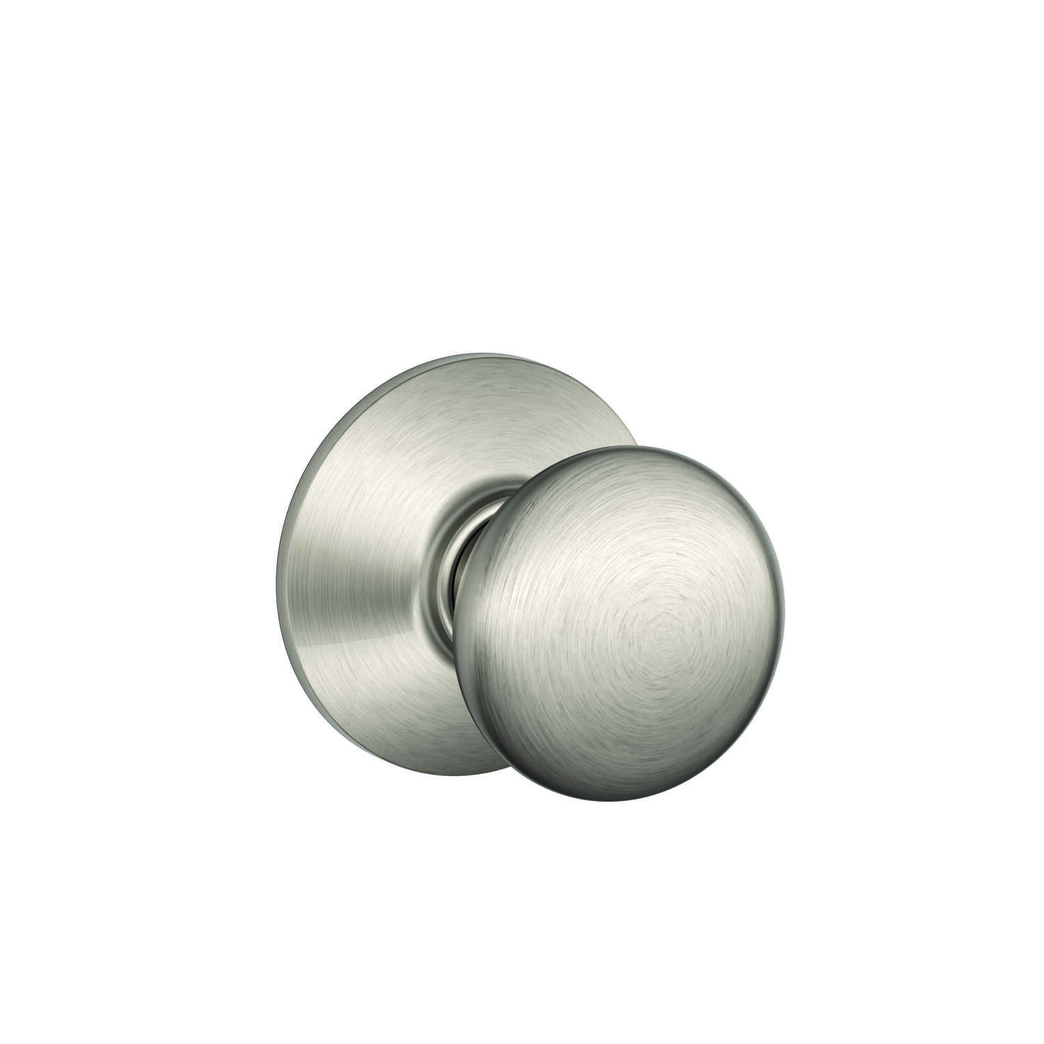 Schlage  Plymouth  Satin Nickel  Brass  Passage Door Knob  2 Grade Right or Left Handed