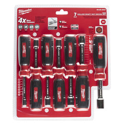 Milwaukee  Assorted in. SAE  Hollow Shaft Nut Driver Set  7 in. L 7 pc.