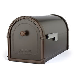 Architectural Mailboxes Bellevue Modern Galvanized Steel Post Mount Rubbed Bronze Mailbox