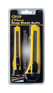 Steel Grip  5-1/2 in. Retractable  Snap Blade Knife Set  Yellow  2 pk