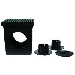NDS  Draintech  Polyethylene  Catch Basin Kit With Grate