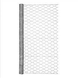 Garden Zone  48 in. H x 25 ft. L 20 Ga. Silver  Poultry Netting