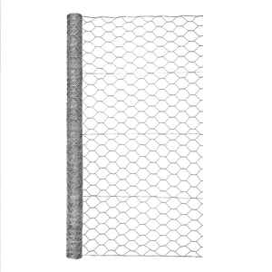 Garden Zone  48 in. H x 25 ft. L 20 Ga. Silver Gray  Poultry Netting
