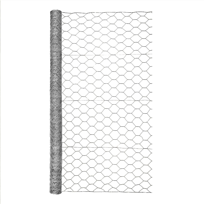 garden zone 48 in  h x 25 ft  l 20 ga  silver gray poultry netting