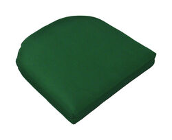 Casual Cushion  Green  Polyester  Seating Cushion  2.5 in. H x 18 in. W x 18 in. L