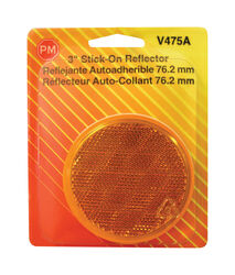 Peterson  Amber  Round  Reflector  1 pk