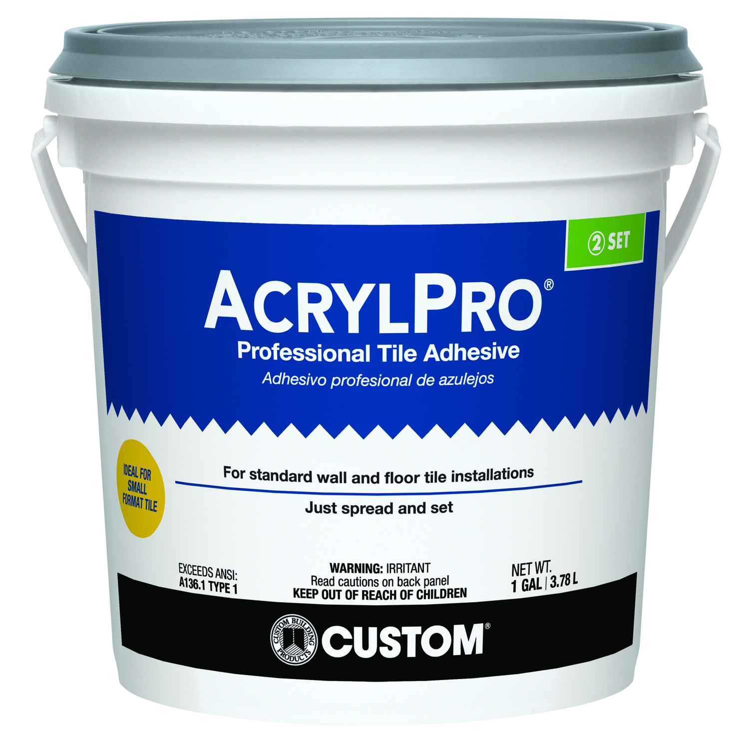 Custom Building Products AcrylPro Ceramic Tile Adhesive 1 gal. - Ace ...
