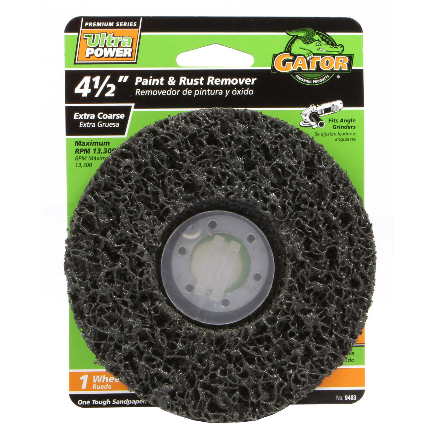 Gator  4.5 in. Center Mount  60 Grit Paint and Rust Remover Disc  1 pk Coarse  Silicon Carbide