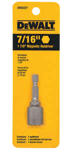 DeWalt  7/16 in.  x 1-7/8 in. L Heat-Treated Steel  Nut Driver  1 pc.