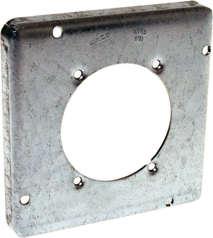 Raco  Square  Steel  2 gang Box Cover  For 1 Receptacle