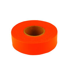 C.H. Hanson  150 ft. L x 1.2 in. W Polyvinyl  Flagging Tape  Fluorescent Orange