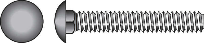 HILLMAN  5/16  Dia. x 2 in. L Zinc-Plated  Steel  Carriage Bolt  100 pk