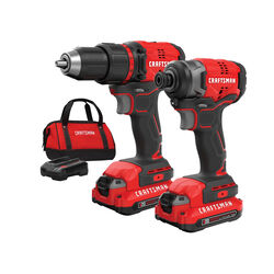 Craftsman  V20  Cordless  Brushless 2 tool Compact Drill and Impact Driver Kit  20 volt