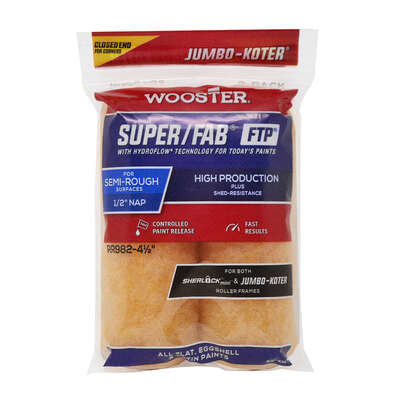 Wooster Brush  Super/Fab  1/2 in.  x 3 in. W Jumbo  Paint Roller Cover  2 pk