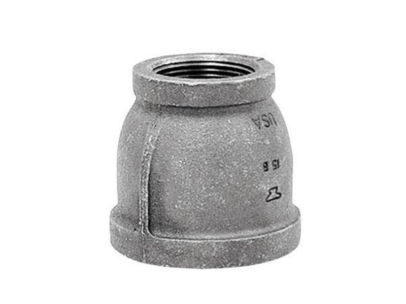 Anvil  1/2 in. FPT   x 3/8 in. Dia. FPT  Black  Malleable Iron  Reducing Coupling
