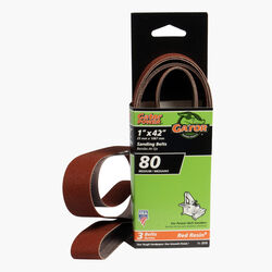 Gator  42 in. L x 1 in. W Aluminum Oxide  Sanding Belt  80 Grit Medium  3 pc.