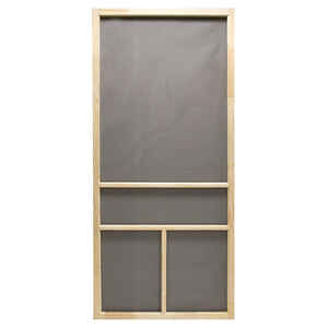 Precision  Dogwood  80-1/2 in. H x 36 in. W Dogwood  Natural Wood  Wood  Screen Door