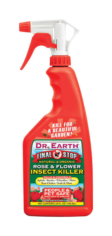 Dr. Earth  Final Stop Rose & Flower  Organic Insect Killer  24 oz.