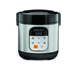 Hamilton Beach 1.5 qt. Silver Stainless Steel Programmable Multi-Cooker