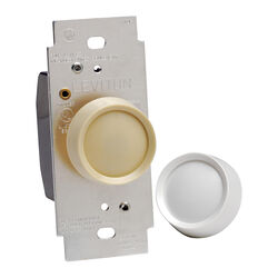 Leviton Trimatron Light Almond & White 600 watt Rotary Dimmer Knob