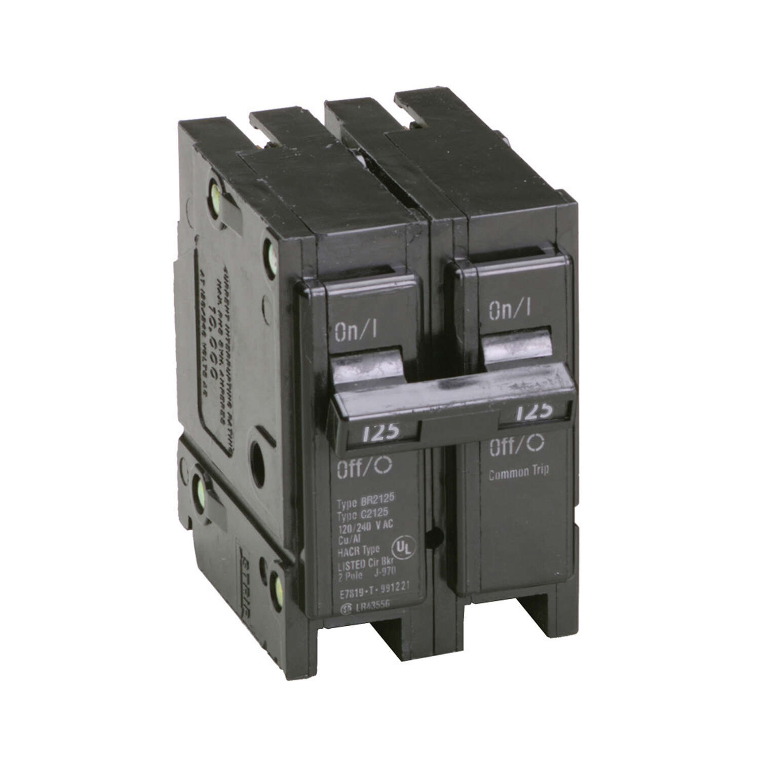 Eaton  Cutler-Hammer  125 amps Plug In  2-Pole  Circuit Breaker