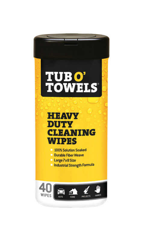 Tub O Towels Heavy Duty Fiber Weave Cleaning Wipes 8 In W