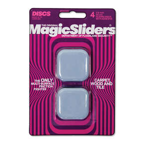 Magic Sliders  Plastic  Floor Slide  Gray  Square  1-3/4 in. L x 1-3/4 in. W Self Adhesive 4 pk