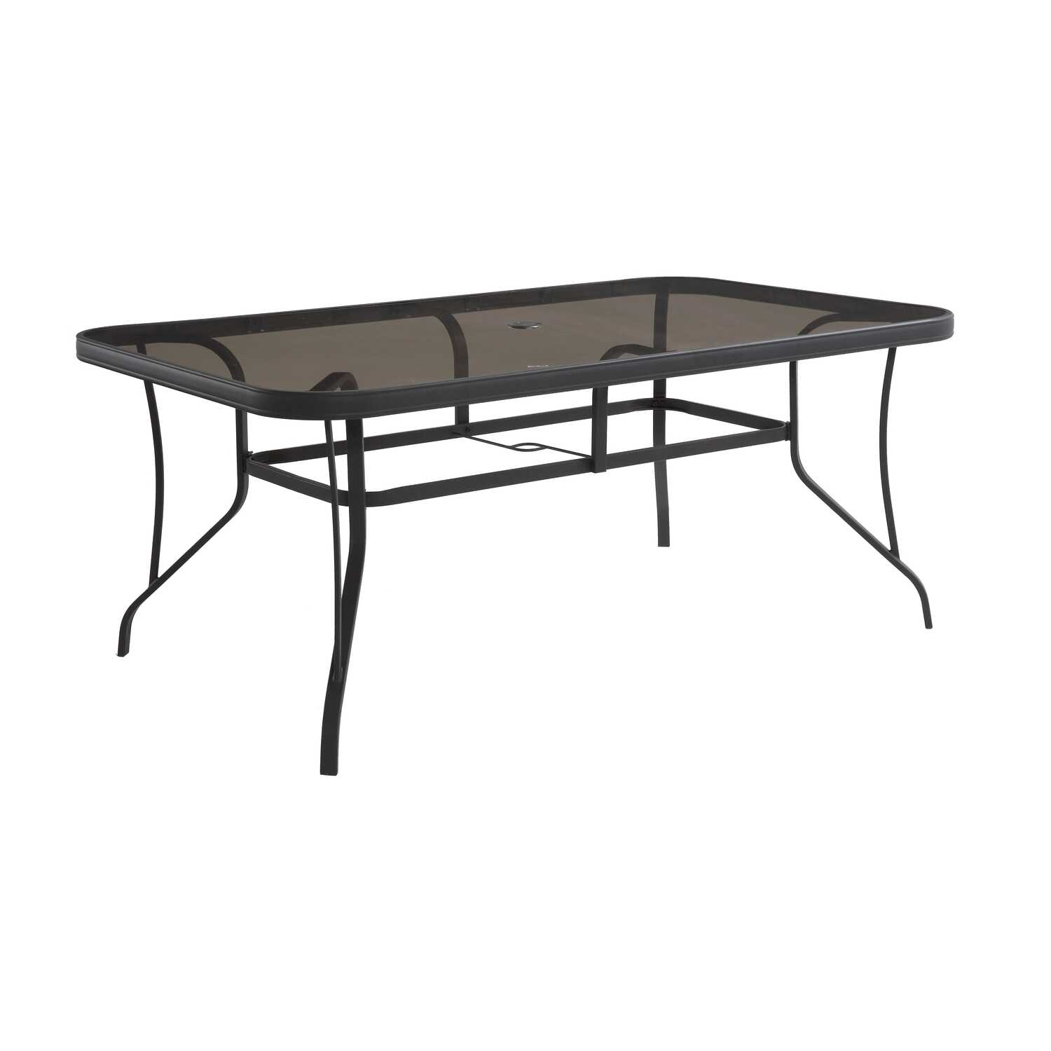 Living Accents  Kensington  Rectangular  Black  Glass  Dining Table