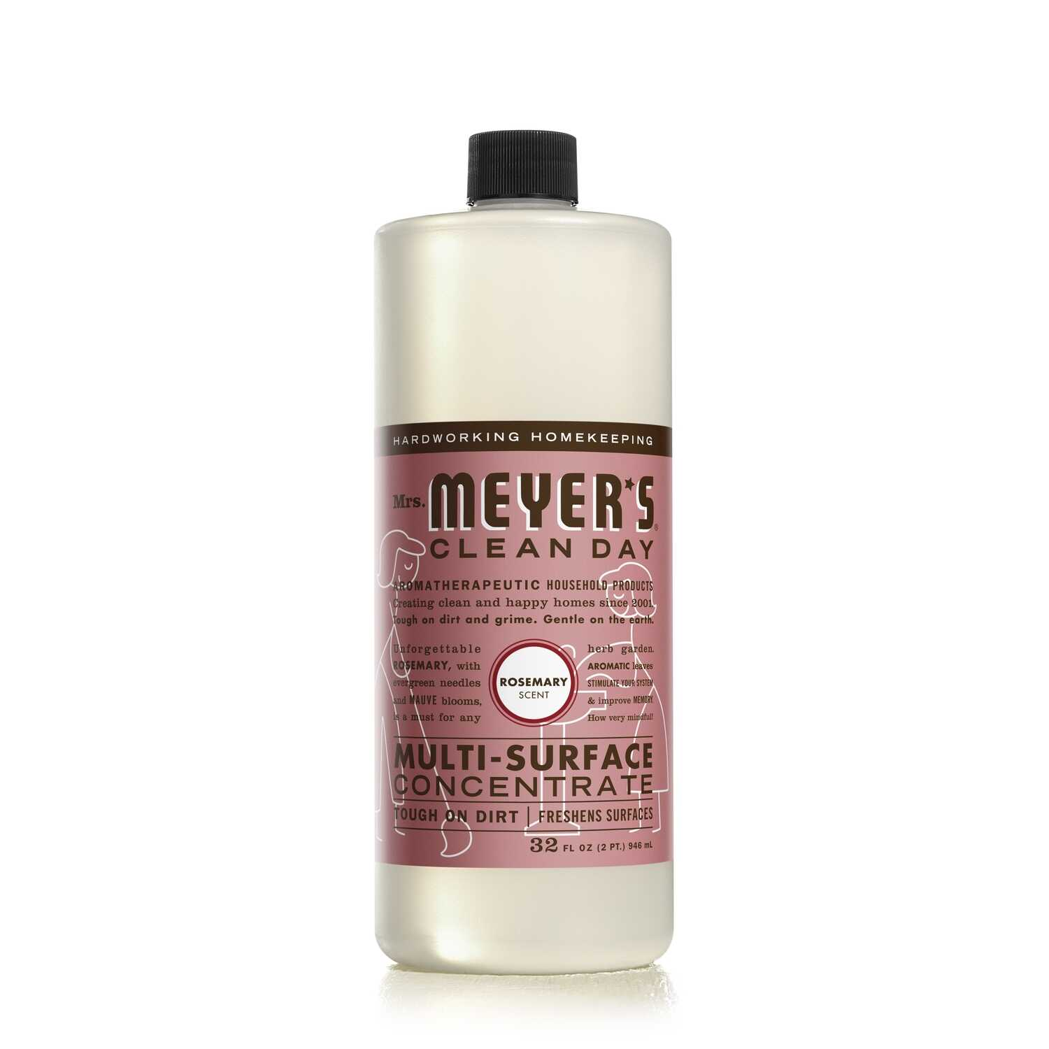 Mrs. Meyer's  Clean Day  Rosemary Scent Multi-Surface Cleaner, Protector and Deodorizer  32 oz. Liqu