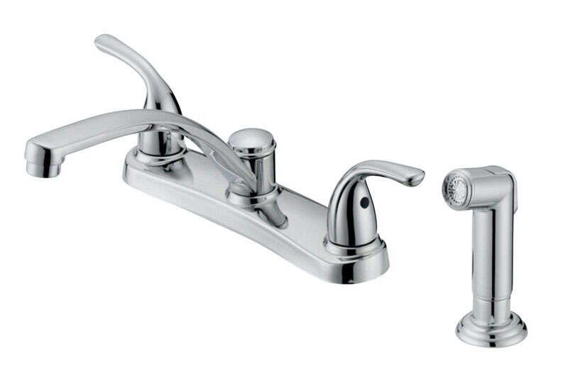 OakBrook  Coastal  2 handle Kitchen w/Sprayer  Two Handle  Chrome  Kitchen Faucet  Side Sprayer Incl