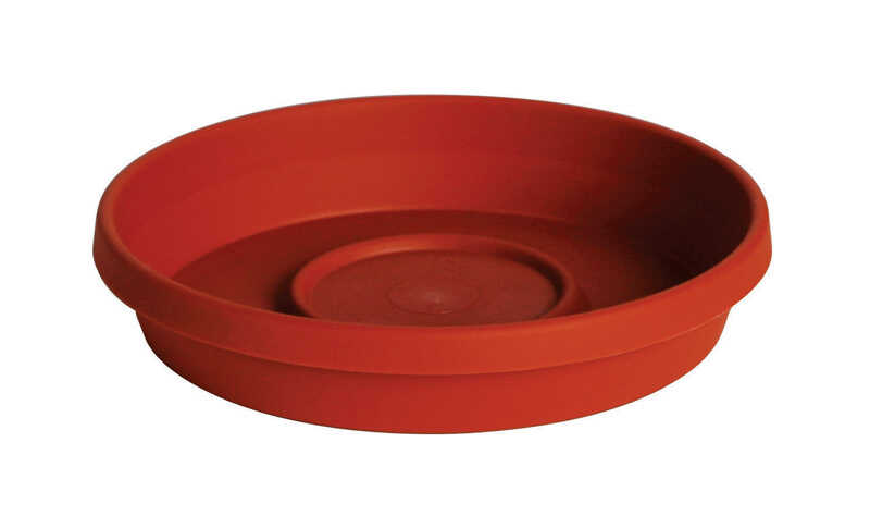 Bloem  Terratray  2.7 in. H Terracotta Clay  Resin  Traditional  Tray