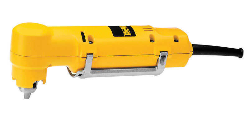 DeWalt  3/8 in. Keyed  Corded Angle Drill  Bare Tool  4 amps 1200 rpm