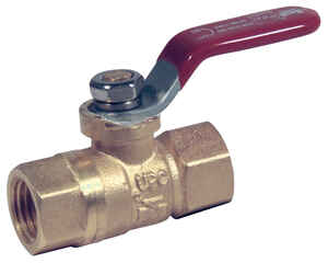 Mueller  Packing Gland  Ball Valve  1/4 in. FPT   x 1/4 in. Dia. FPT  Brass