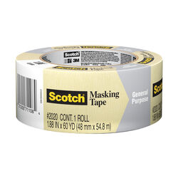 Scotch  1.88 in. W x 60 yd. L Tan  Masking Tape  1 pk