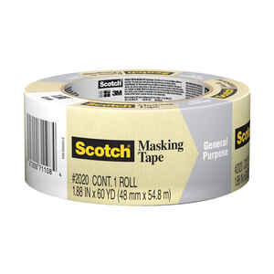 Scotch  60 yd. L x 1.88 in. W Tan  High Strength  Masking Tape  1 pk